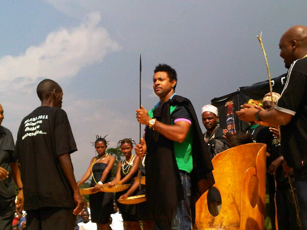 Shaggy was just made Chief of Bulabo village 'Sukuma people' Tanzania © DJ Kue http://twitter.com/KueSound