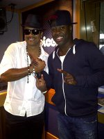 Kojo and Shaggy at Choice FM studio London UK