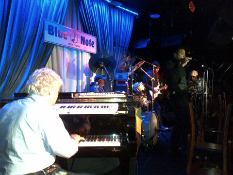 "Shaggy, Monty Alexander and Robert ""Dubwise"" Browne sound check at Monty Alexander"