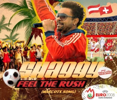 Shaggy Feel the Rush cd single cover UEFA EURO 2008 featuring Trix and Flix official mascots album song