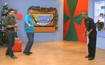 Shaggy Simon and Neville play a game of charades live at Smile Jamaica on TVJ