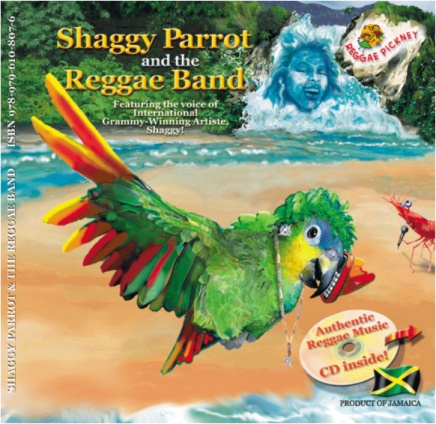Shaggy Parrot and the Reggae Band educational children literature-and-CD set album and book cover