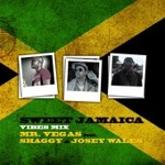 Mr Vegas feat. Shaggy and Josey Wales Sweet Jamaica Vibes Mix 2011 cd single cover Nah Lef Yah Remix Lecturer riddim