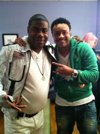 Tracy Morgan and Shaggy backstage on The Tonight Show with Jay Leno on NBC