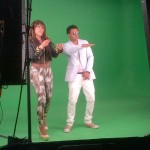 Shaggy and Eve making the video Girls Just Wanna Have Fun behind the scenes of the video shoot