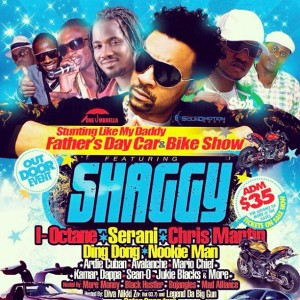 Stunting Like My Daddy. Father's Day Car & Bike Show West Indian Social Club Hartford CT Shaggy I-Octane Serani Chris Martin Diva Nikki Z