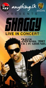 Shaggy at the Ceylonese Rugby & Football Club in Colombo Sri Lanka flyer 2012 concert