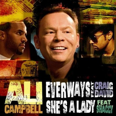 Ali Campbell feat. Craig David and Shaggy Everways & She's a Lady double A side single album cover art